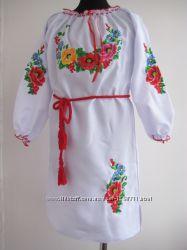 Вышитое платье  Мальва  на девочку