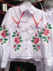 Школьные вышитые блузочки