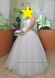 Шикарное свадебное платье 48 размера