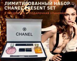 Подарочный набор Chanel парфюм  косметика 5в1