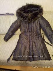 Пальто пуховое зимнее