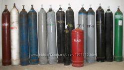 Баллоны стальные под кислород, азот, аргон, углекислоту, гелий, и др