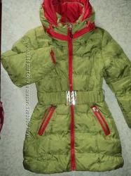 Куртка пальто зимняя 4-6 лет