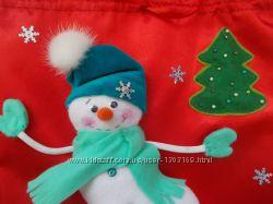 Новогодний мешочек-игрушка для подарков ручная работа