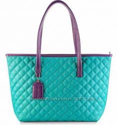 Бирюзовая стеганая сумка экокожа Мери Кей