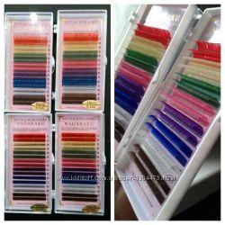 Цветные ресницы. Корея