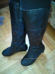 Женские кожаные сапожки