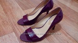 Шикарные кожаные туфли босоножки 23, 5