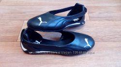 Кожаные спортивные балетки puma 23