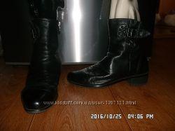 Кожаные демисезонные полусапожки ботинки 26 см стелька