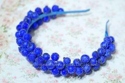 Обруч с ягодами калины синий