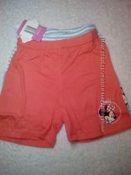 Комплект шорт для девочек 74-80, 86-92 и мальчиков 62-68  Disney Большемеря