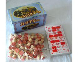 Игра настольная лото, деревянные бочёнки