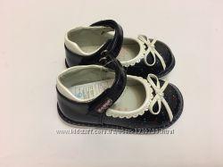 Туфли синие с белым бантиком
