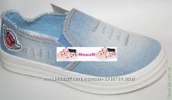 Мокасины кеды джинсовые для мальчика и девочки