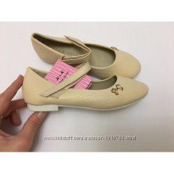 Туфли для девочке бежевые