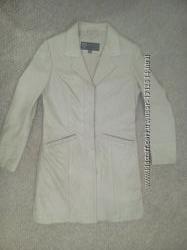 Кожанная куртка плащ демисезонный р. 46