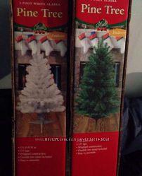 Новорічна ялина 91 см біла зелена США ёлка новогодняя