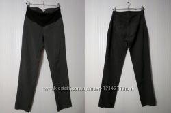 Классические офисные брюки для беременных демисезонные теплые