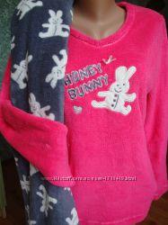 пижамки домашние  хлопок флис бренд новые и б. у. рр. С-М-л