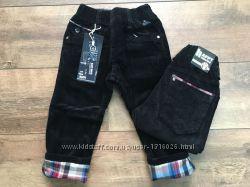 утепленные вельветовые и коттоновые брюки для малышей Польша