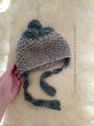 Вязаная шапочка теплая