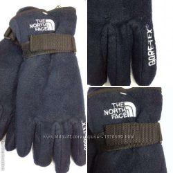 Мужские перчатки, очень теплые, двойной флис