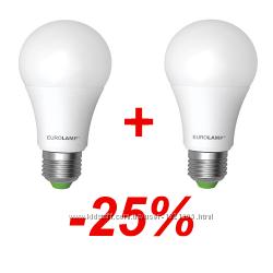 Акция LED Лампа A60 10W E27 4000K