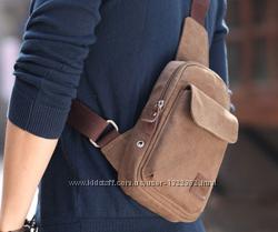 Слинг, мужская сумка через плечо, на грудь, мини рюкзак, барсетка.