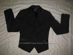 Пиджак черный  МЕХХ  Размер 34
