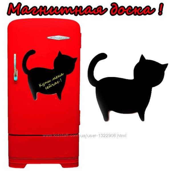 Магнитная доска на холодильник Котик 35х32см