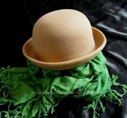 Элегантная бежевая шляпка новая