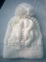 Теплая зимняя шапка с подкладкой