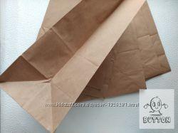 Крафт пакет бурый без ручек с дном, плотность 50мг