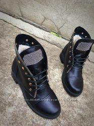 Зимние ботинки с натуральной замши