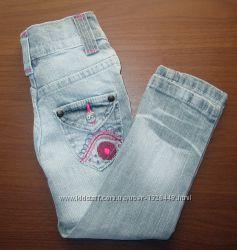 Красивенные джинсы с вишивкой на девочку 98см Orchestra
