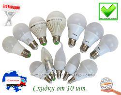 Светодиодные LED лампочки E14, E27. 3W-15W