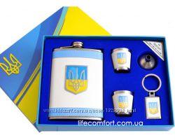 Фляга-стопка-Подарочные наборы с Украинской символикой