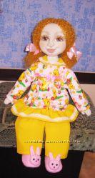 Кукла Ксюша- текстильная игровая кукла ручной работы