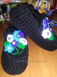 Вязанная обувь для дома и улицы