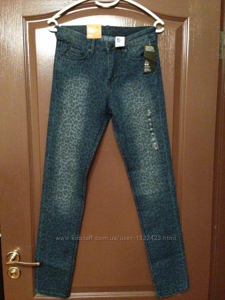 джинсы скинни леопард H&M