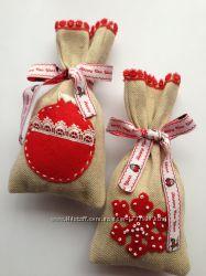 Подарочный мешочки на новый го, декор для подарков,