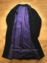 Демисезонное черное пальто, 80 шерсть, M