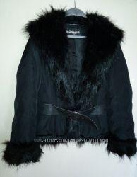 Куртка с искусственным мехом. лейбл new york. размер m
