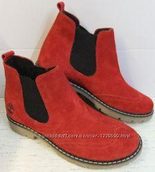 Весенние женские ботинки Timberland полуботинки натуральная замша красота