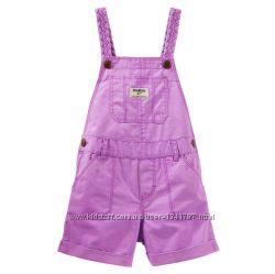 Комбинезон шорты 12М OshKosh, в наявності фіолетовий і розово-оранжевий