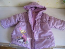 Сиреневая зимняя курточка 2-3T