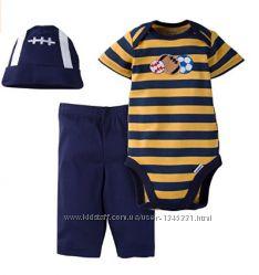 Комплект 3в1 Gerber США оригинал боди штаны панамка