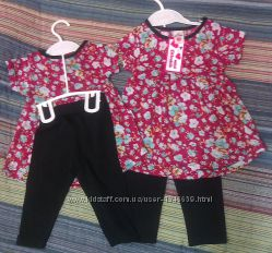 Летний костюм для девочки на 1 год. Турция.