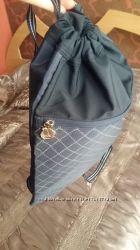 Рюкзак тонкий сумка для мальчика серый синий Garfield через плечо
